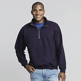 Gildan Adult Cadet Collar Sweatshirt