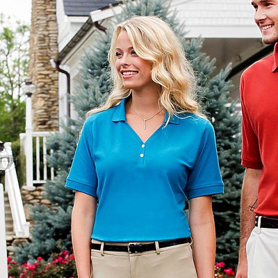 Jonathan Corey Ladies Pima Pique Golf Shirt