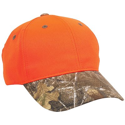 OUTDOOR CAP Blaze Crown with Camo Visor Cap