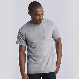 Gildan Ultra Cotton Heavyweight Pocket T-Shirt 100% 6.1oz