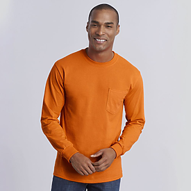 Gildan 6.1oz 100% Longsleeve Pocket
