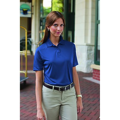 24/7 Ladies 100% Polyester Wicking Polo