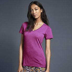 Anvil Ladies 3.2oz Sheer V Neck T