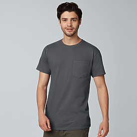 Fruit of the Loom Heavy Cotton Pocket T-Shirt 100%