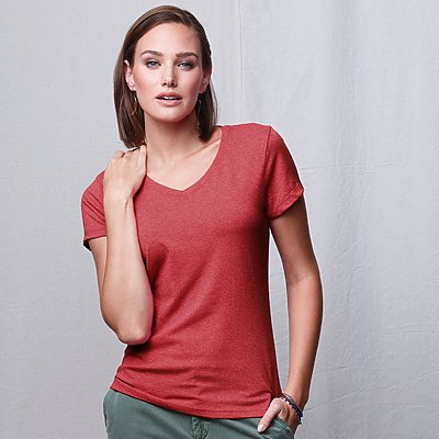 Hanes X-Temp Ladies V-Neck Tri-Blend Tee