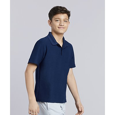 Gildan Youth Poly Performance Dbl Piq. Sport Shirt