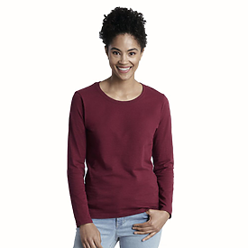 Gildan Ladies 5.4oz 100% Longsleeve T