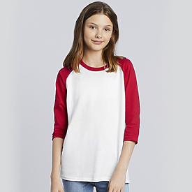 Gildan Heavy Cotton Youth 3/4 Raglan T-shirt