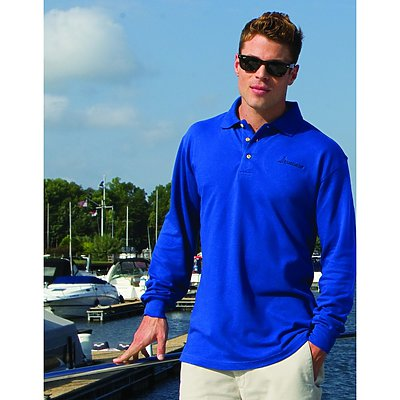 Inner Harbor Long Sleeve Pique Golf Shirt