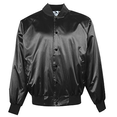 Augusta Solid Satin Baseball Jacket