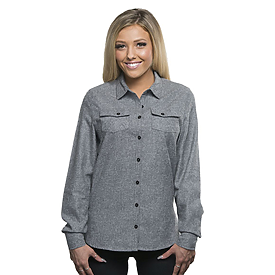 Burnside Ladies Solid Flannel Shirt