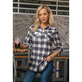 Burnside Ladies Plaid Flannel Shirt