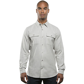 Burnside Mens Solid Flannel Shirt