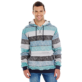 Burnside Printed Striped Marled Pullover Hood