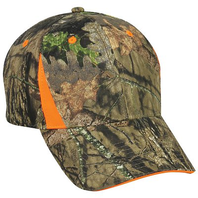 OUTDOOR CAP Camo with Blaze Trim Cap