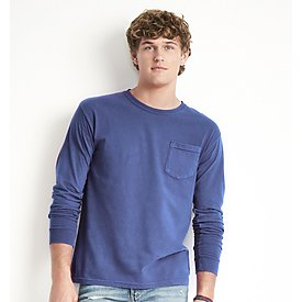 COMFORT COLORS  Long Sleeve Pocket T-Shirt