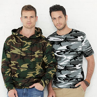 Code V 7.5oz Hooded Camo Sweat