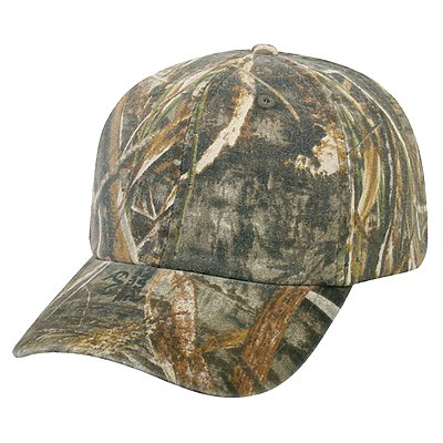 OUTDOOR CAP Garment-washed Camo Cap