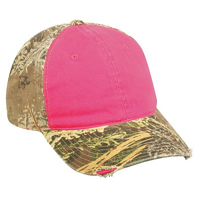 OUTDOOR CAP Frayed Ladies Camo Cap
