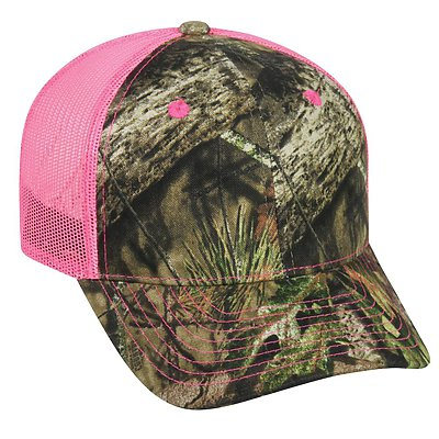 OUTDOOR CAP Camo with Neon Mesh Cap