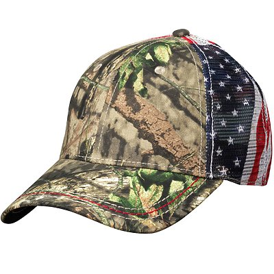 OUTDOOR CAP American Flag Mesh Back Cap