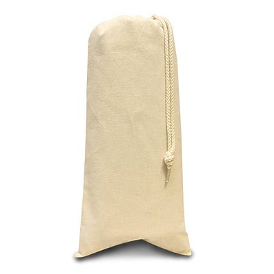 LIBERTY BAGS 10 oz. Canvas Drawstring Wine Tote