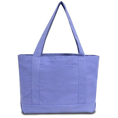 LIBERTY BAGS Seaside Cotton Pigment Dyed Boat Tote