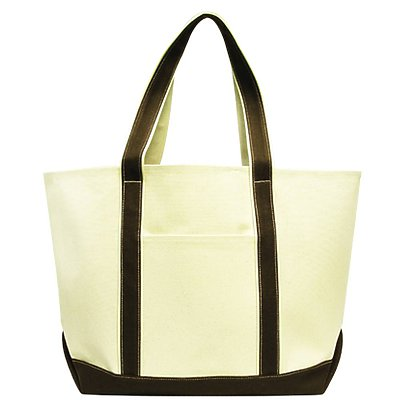 LIBERTY BAGS 16oz Large Cotton Canvas Boat Tote