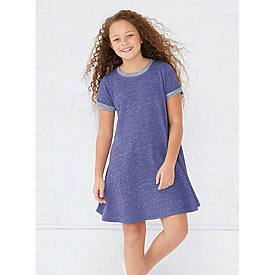 LAT Girls Melange French Terry Dress