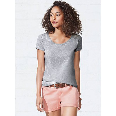 LAT Ladies Deep Scoop Neck Tee