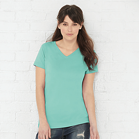 LAT 4.5oz 100% Ladies V Neck T