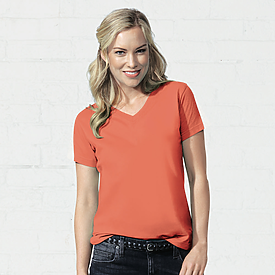 LAT 5.5oz Ladies V-Neck T