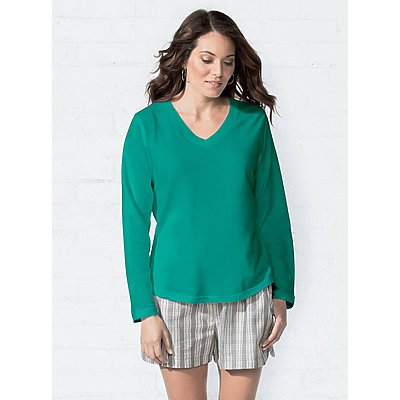 LAT Ladies French Terry V-Neck