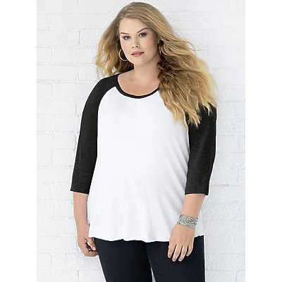 LAT Ladies Curvy Baseball Tee