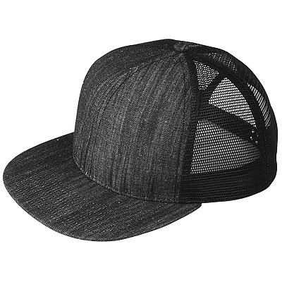 MEGA CAP Six-panel Flat Bill Trucker Cap