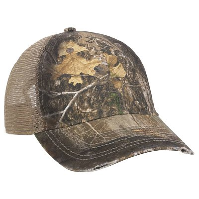 OUTDOOR CAP Camo Oil-Stained Mesh Back