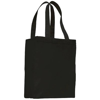 Q-Tees 12oz Canvas Gusset Shopping Tote