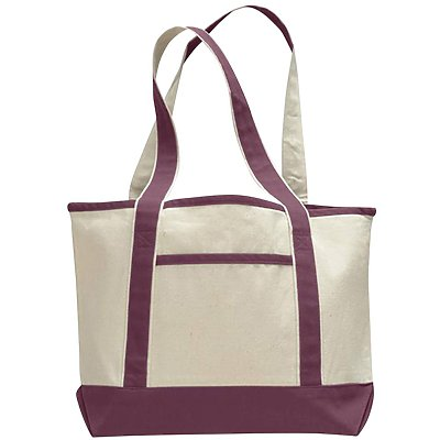 Q-Tees 12oz Canvas Small Canvas Deluxe Tote