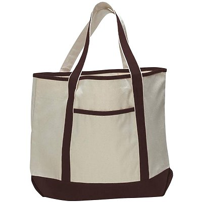 Q-Tees 12oz Canvas Large Canvas Deluxe Tote