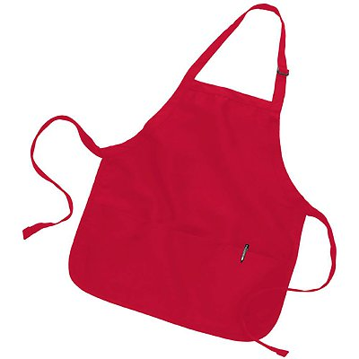 Q-Tees 7.5oz Mid-Length Apron with Pockets