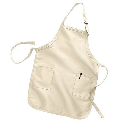 Q-Tees 7.5oz Full-Length Apron with Pockets
