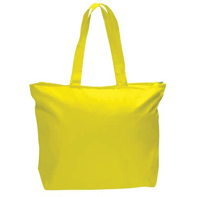 Q-Tees 12oz Canvas Zippered Tote