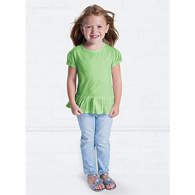Rabbit Skins Toddler Ruffle Tee
