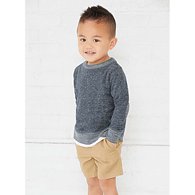 Rabbit Skins Toddler Melange French Terry L/S