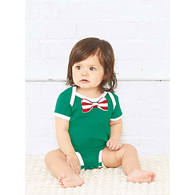 Rabbit Skins Infant Baby Rib Bow Tie Bodysuit