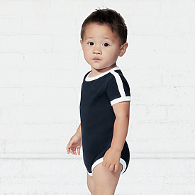 Rabbit Skins Infant Retro Ringer Jersey Bodysuit