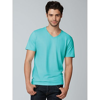 Fruit of the Loom 4.5oz 100% Sofspun V Neck T