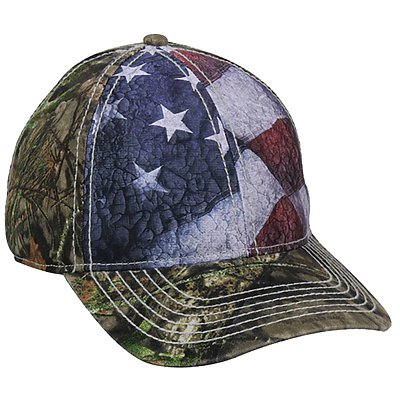 OUTDOOR CAP American Flag Front Panels