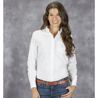 Van Heusen Ladies 4.25oz Oxford Longsleeve
