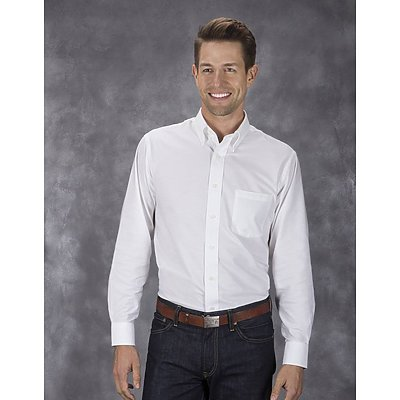 Van Heusen 4.25oz 60/40 Oxford L/S Shirt
